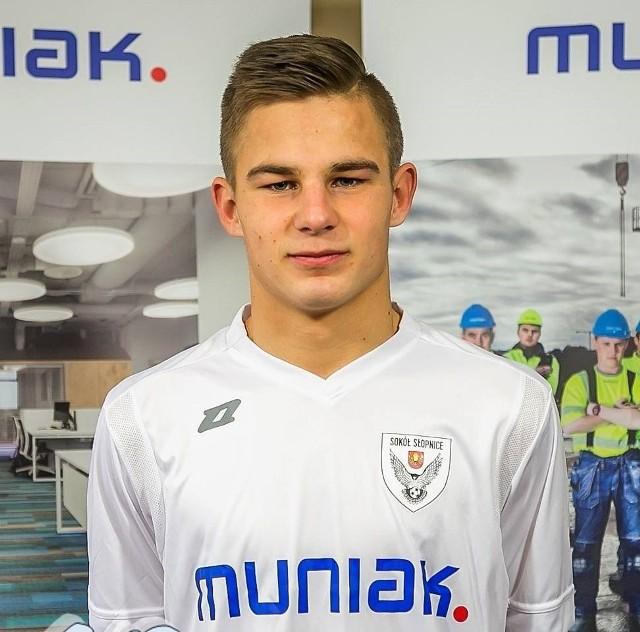 Patryk Nowak jest najlepszym strzelcem Sokoła Słopnice w tym sezonie