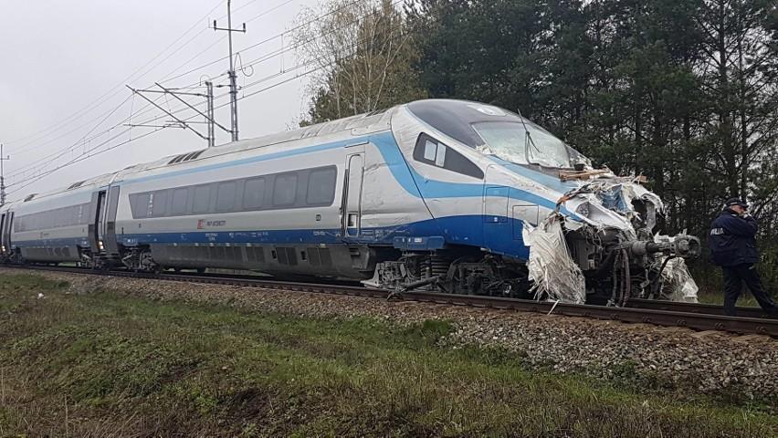 Wypadek Pendolino z Wrocławia do Warszawy. Wiele osób rannych