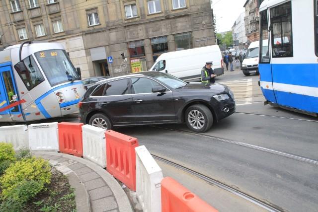Wypadek koło Dworca Głównego