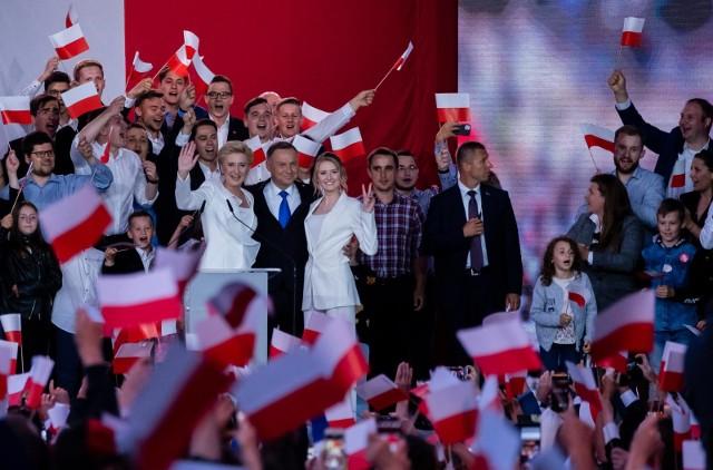 Andrzej Duda (tu podczas wieczoru wyborczego) w powiecie myślenickim zdobył 70,68 proc. głosów