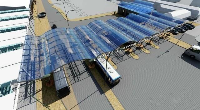 Nowy dworzec PKS - Centrum Komunikacyjno-Przesiadkowe. Wizualizacje