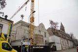 Kraków. Rośnie budynek nowej siedziby Teatru KTO. Na dachu pojawiła się wiecha [ZDJĘCIA]