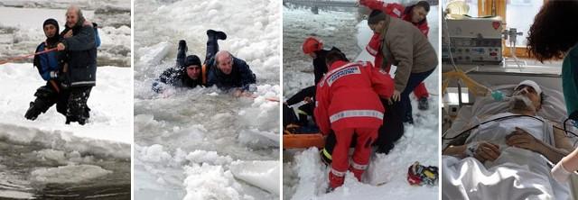 We wtorek st. kpt. Daniel Dryniak uratował wędkarza Adama Smuka dryfującego na krze.
