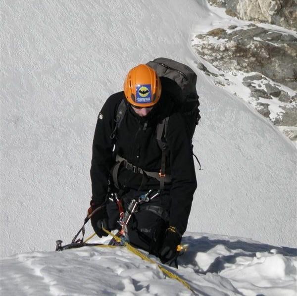 Grzegorz Kukurowski w drodze na szczyt