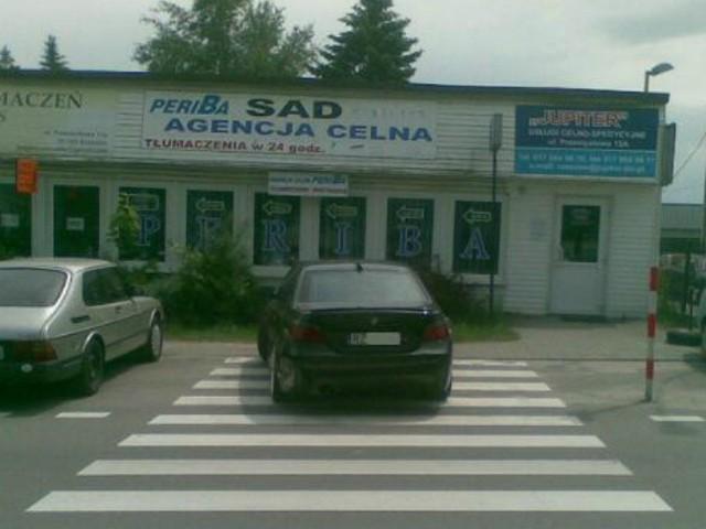 Ul. Przemysłowa, przejście w rejonie urzędu celnego.