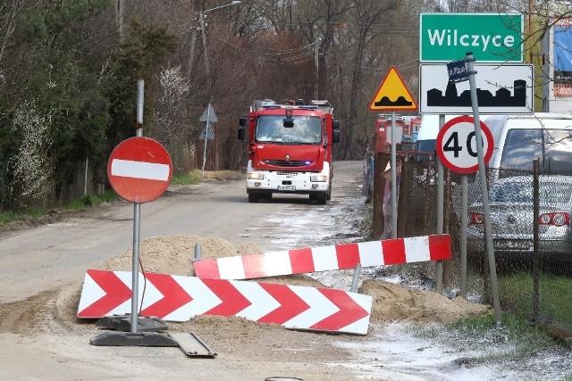 Ulica Wilczycka zamknięta