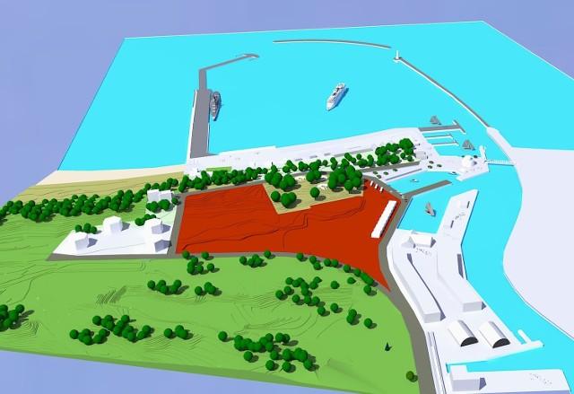W najbardziej skrajnej wersji falochron zachodni zostanie przesunięty o 250 metrów w stronę trzeciego mola.