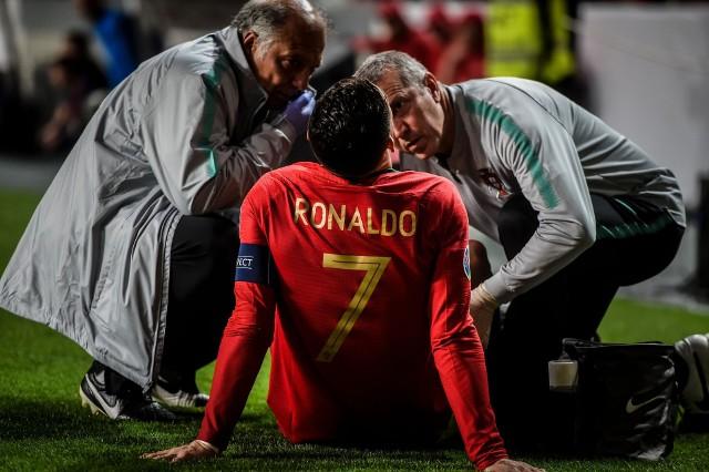 Cristiano Ronaldo opuścił boisko po pół godzinie gry.