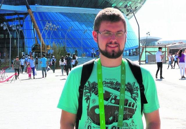 Damian Gromala, student marketingu, w tym roku jako wolontariusz uczestniczył w Wystawie Światowej EXPO-Asana w Kazachstanie
