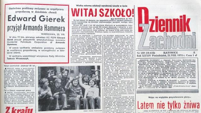 """W 1978 roku dzieci poszły do szkoły już 21 sierpnia. """"Dziennik Zachodni"""" przez kilka dni towarzyszył nietypowym pierwszakom"""