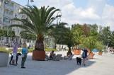 Oaza w centrum Nysy! Palmy i leżaki pojawiły się na placu przy ul. Piastowskiej
