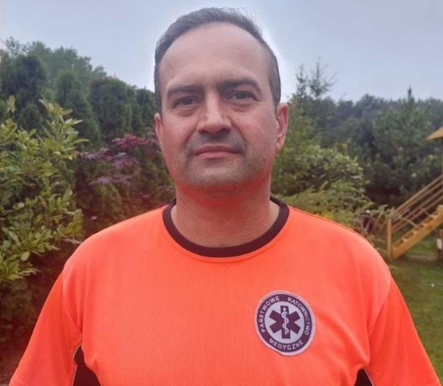 Marcin Grochowski na co dzień jest ratownikiem medycznym w zielonogórskim pogotowiu ratunkowym.