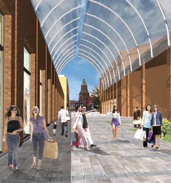 Galeria na Zawarciu (tuż za rzeką, patrząc od strony katedry) ma być gotowa na początku 2010 r. Będzie się rozciągać od dominanty aż po hale targowe. Po bokach granicami będą: Grobla i Przemysłowa.