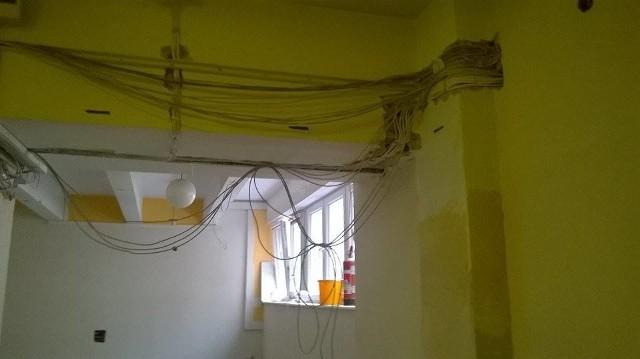 Tak wyglądają remontowane pomieszczenia szpitala