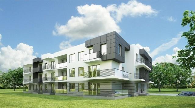 Nowy budynek mieszkalny na kieleckiej Podkarczówce Tak budynek będzie wyglądał po zakończeniu prac. Znajdzie się w nim 27 mieszkań liczących od 28 do 100 metrów kwadratowych.