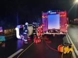 Wypadek w Nowym Tuchomiu 18.11.2020 r. W drodze na miejsce doszło do kolizji z udziałem wozu strażackiego