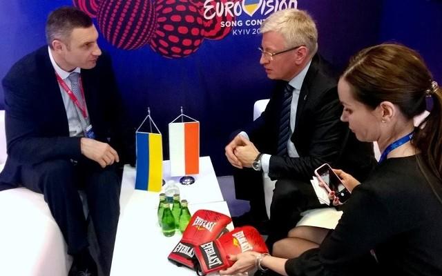 Jacek Jaśkowiak spotkał się z Witalijem Kliczką