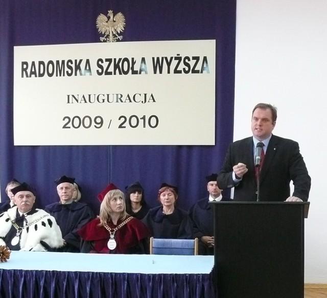 """Wykład inauguracyjny pod hasłem """"Quo vadis demokracji"""" wygłosił Paweł Piskorski, przewodniczący Stronnictwa Demokratycznego."""