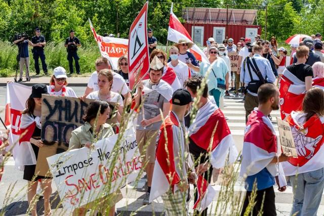 W sobotę Białorusini będą protestować na granicy. To jednak ostatni dzień namiotowego miasteczka