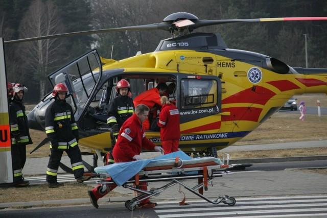 Do wypadku w Wielku zadysponowano helikopter LPR.