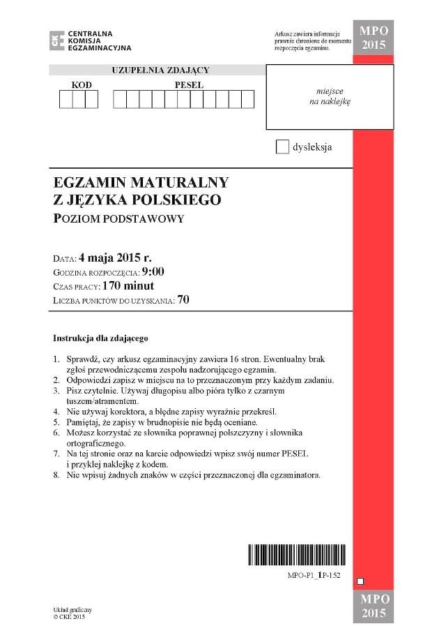 Matura 2015 Polski Arkusze Pytania Odpowiedzi Lalka Prusa