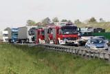 Wypadek na autostradzie A4 pod Legnicą. Są utrudnienia