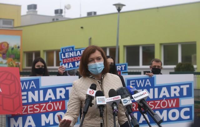 Ewa Leniart obiecuje nowe żłobki dla mieszkańców Rzeszowa.