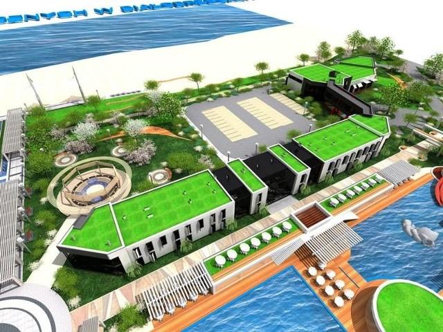 Tak wedle koncepcji architektonicznej w przyszłości ma wyglądać hotel nad Pilicą w Białobrzegach.