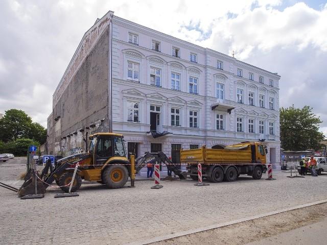To już nie wizualizacja - tak wygląda odnowiona fasada kamienicy przy ul. Sienkiewicza 56.
