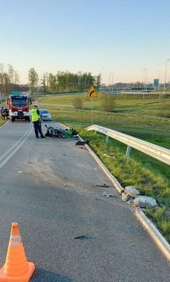 Wypadek w Lubczu.