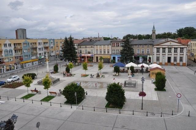 Rynek w Oleśnie.