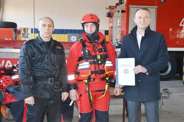 Od lewej: Arkadiusz Makowski, Wojciech Wieteska oraz Piotr Malczyk