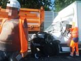 Groźny wypadek na trasie DK1. Dwie osoby są ranne w karambolu. Trasa była zablokowana wiele godzin
