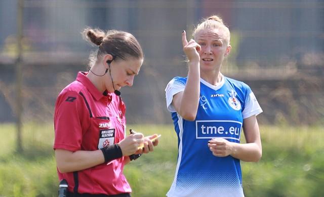 Katarzyna Konat strzeliła dwa gole w meczu z Rekordem