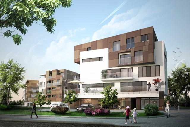 Przy ulicy Poleskiej powstaną trzy czteropiętrowe budynki. W parterze znajdą się garaże, a w jednym z bloków także lokale usługowe.