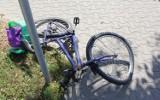 Ul. Bohaterów Monte Cassino. Wypadek rowerzystki na przejściu dla pieszych (zdjęcia)