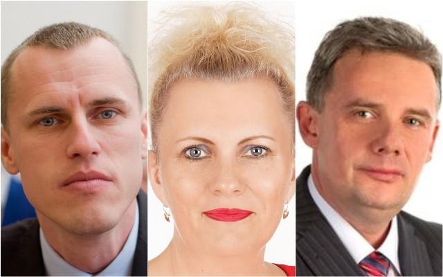 Radni Sebastian Glaziński i Dariusz Woźniak (też skarbnik powiatu) i wójt gminy Dragacz Dorota Krezymon o wyborach prezydenckich.