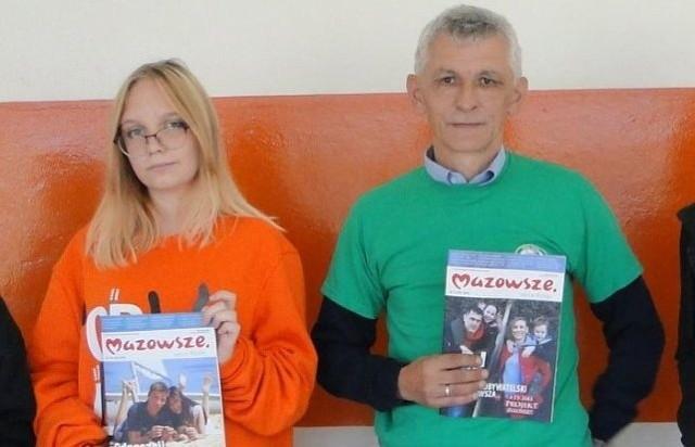 Julia Grotkowska i nauczyciel Jacek Malicki.