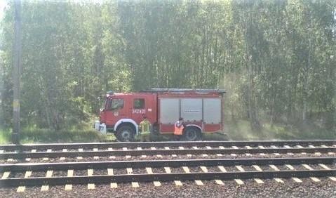 Torowisko w Zielonej Górze paliło się aż do wiaduktu przy wjeździe do Przylepu (zdjęcie ilustracyjne)
