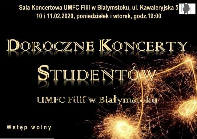 UMFC Białystok zaprasza na doroczne koncerty