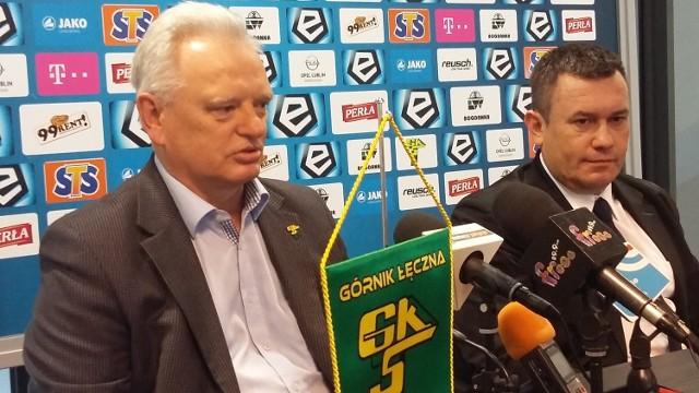 Zdzisław Kapka (z lewej) i prezes Górnika, Artur Kapelko