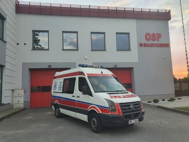 Nowy ambulans przekazany jednostce Ochotniczej Straży Pożarnej w Skaryszewie.
