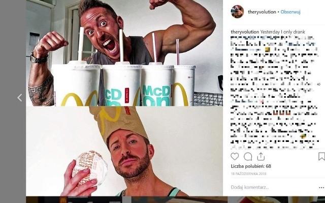 Brytyjski kulturysta Ryan Williams postanowił przez 30 dni jeść tylko w restauracjach sieci  McDonald's. Oczywiście podczas tej ekstremalnej diety anglik cały czas dbał o formę trenując na siłowni. Po miesiącu oznajmił, że schudł 7 kilogramów i pokazał zdjęcia na początku fastfoodowej diety i po 30 dniach. Ryan Williams jak przyznał zwracał uwagę na liczbę kalorii, które spożywał w restauracji McDonald's. Starał się jeść nie więcej niż 2,5 tys. kalorii na dzień. Oprócz tego mężczyzna spędzał na siłowni przynajmniej godzinę dziennie. Efekt: Ryan schudł w ciągu 30 dni 7 kilogramów. ZOBACZ ZDJĘCIE PO 30-DNIOWEJ DIECIE W MCDONALD'S - KLIKNIJ DALEJ