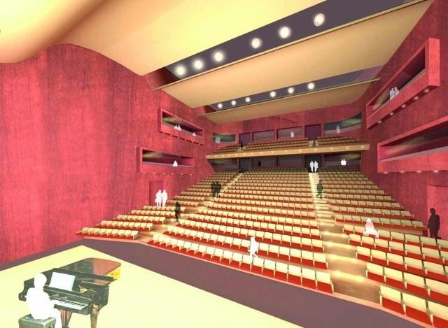 Tak będzie wyglądała sala koncertowo-teatralna. Widownia ma pomieścić aż 678 osób.