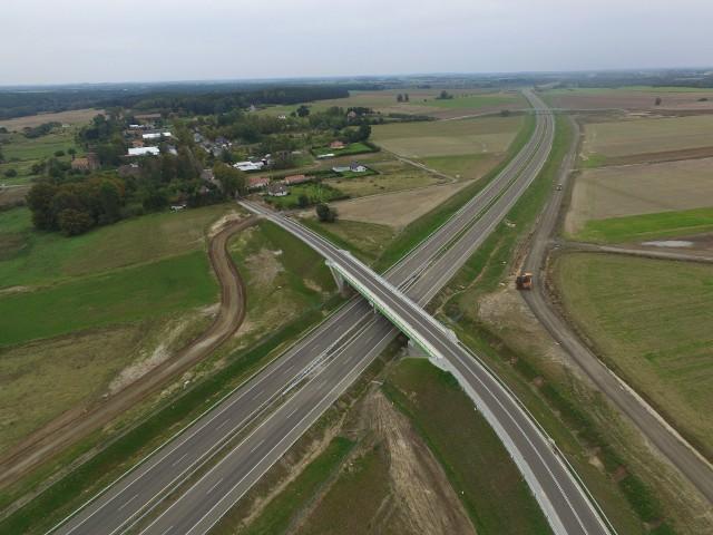 Fragment drogi S6 na odcinku Kiełpino-Kołobrzeg Zachód