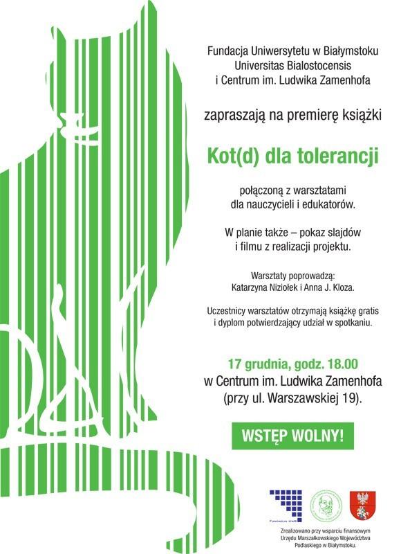 Kot(d) dla tolerancji to projekt edukacyjny zainspirowany bajką Moisesa Gutierreza Raimundeza o kocie Kolorze
