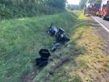Śmiertelny wypadek w Lulkowie na DK15. Nie żyje motocyklista