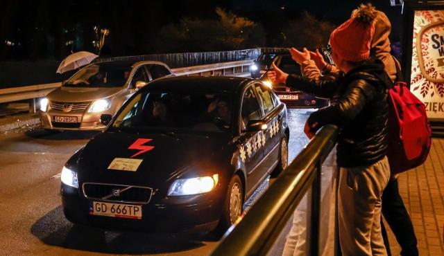 Protest mobilny w Gdańsku, 28.10.2020