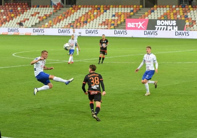 W piątkowym meczu 27. kolejki PKO BP Ekstraklasy Podbeskidzie Bielsko-Biała pokonało Lecha Poznań 1:0