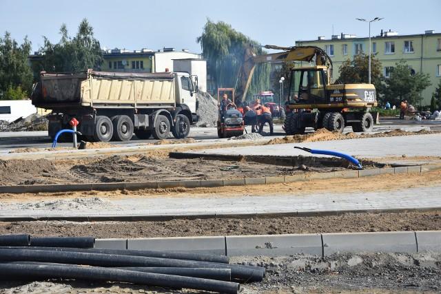 Inwestycje drogowe w rejonie ul. Tysiąclecia i Kcyńskiej w Szubinie wciąż niezakończone